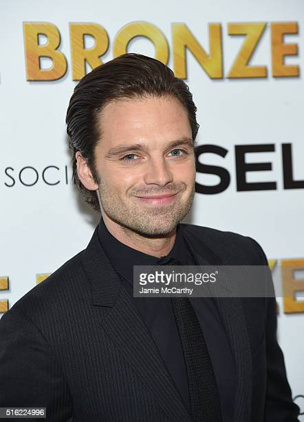 Actor Sebastian Stan attends a screening of Sony Pictures Classics' 'The Bronze' hosted by Cinema Society SELF at Metrograph on March 17 2016 in New...