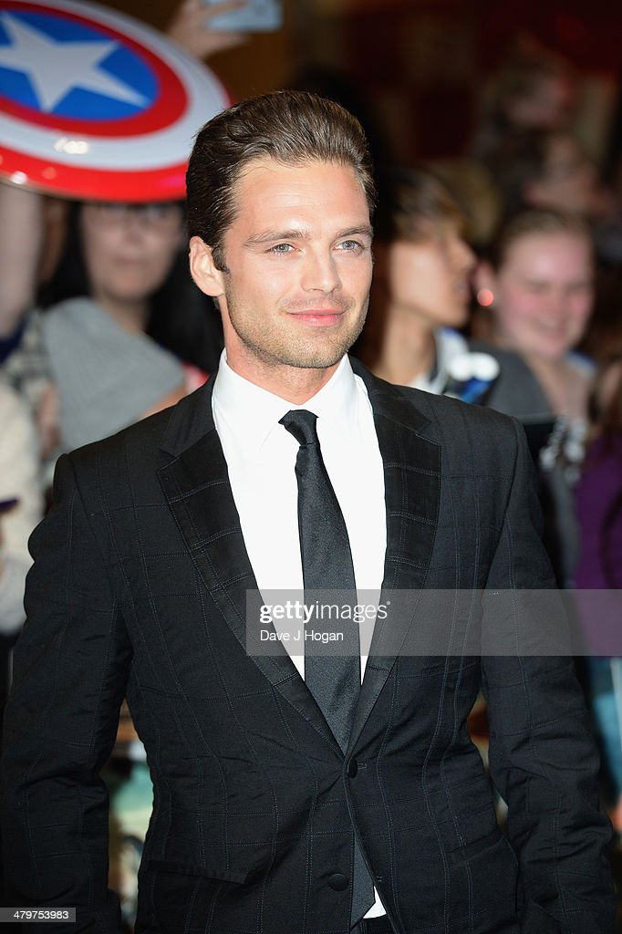 Actor Sebastian Stan attends the 'Captain America: The Winter Soldier' UK film premiere at Westfield on March 20, 2014 in London, England.