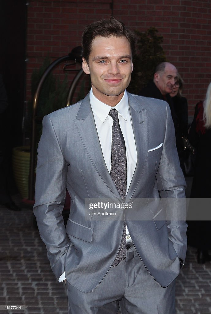 Actor <a gi-track='captionPersonalityLinkClicked' href=/galleries/search?phrase=Sebastian+Stan&family=editorial&specificpeople=656034 ng-click='$event.stopPropagation()'>Sebastian Stan</a> attends The Cinema Society Screening of 'Captain America: The Winter Soldier' Screening at Tribeca Grand Hotel on March 31, 2014 in New York City.