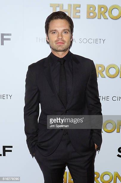 Actor Sebastian Stan attends The Cinema Society SELF host a screening of Sony Pictures Classics' 'The Bronze' at Metrograph on March 17 2016 in New...