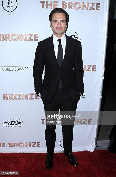 Actor Sebastian Stan attends the Premiere of Sony Pictures Classics' 'The Bronze' at SilverScreen Theater at the Pacific Design Center on March 7...