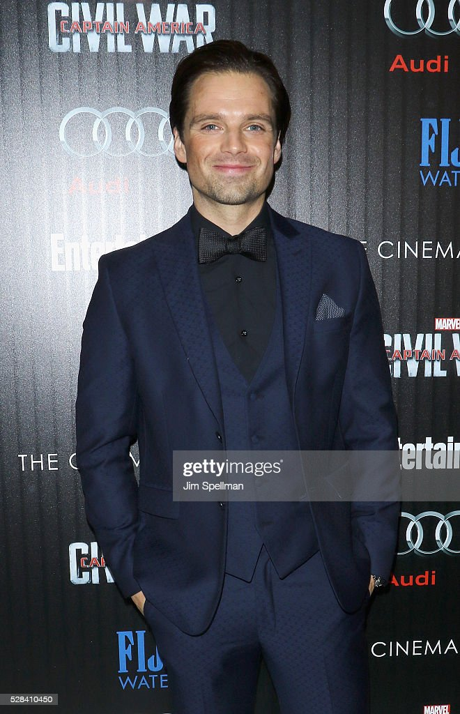 Actor Sebastian Stan attends the screening of Marvel's 'Captain America: Civil War' hosted by The Cinema Society with Audi & FIJI at Brookfield Place on May 4, 2016 in New York City.