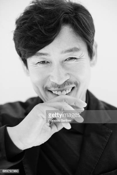 Actor Seol Kyeonggu is photographed on May 24 2017 in Cannes at Majestic Beach France