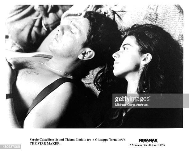 Actor Sergio Castellitto and actress Tiziana Lodato in a scene from the movie 'The Star Maker' circa 1995