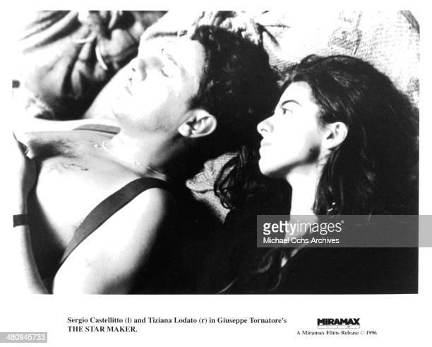 Actor Sergio Castellitto and actress Tiziana Lodato in a scene from the movie 'The Star Maker ' circa 1995