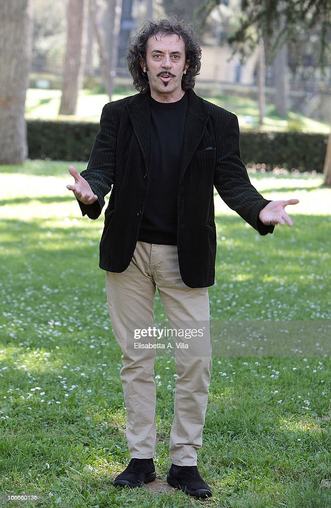 Actor Sergio Meogrossi attends 'Razza Bastarda' photocall at Villa Borghese on April 15, 2013 in Rome, Italy.