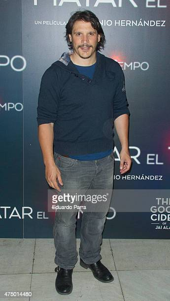 Actor Sergio PerisMencheta attends 'Matar el tiempo' premiere at Capitol cinema on May 28 2015 in Madrid Spain