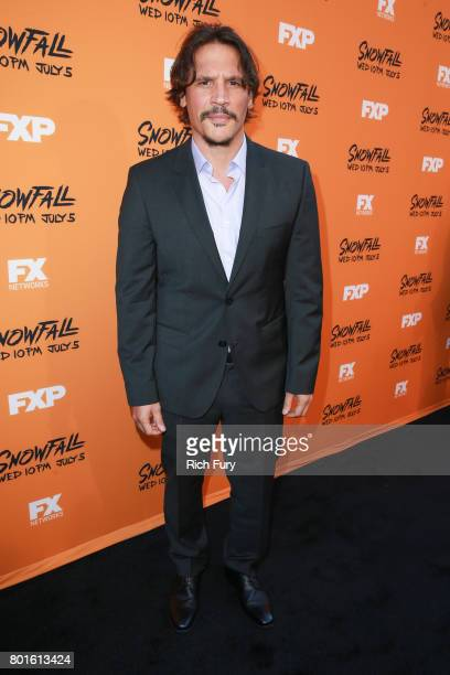 Actor Sergio PerisMencheta attends the premiere of FX's 'Snowfall' at The Theatre at Ace Hotel on June 26 2017 in Los Angeles California