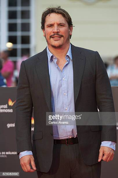 Actor Sergio PerisMencheta attends 'Zoe' premiere at the Cervantes Teather during the 19 Malaga Film Festival on April 27 2016 in Malaga Spain