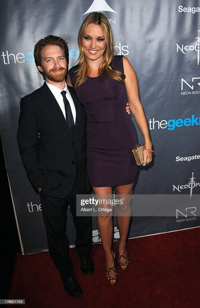 Actor Seth Green and actress Clare Grant attend The 1st Annual Geekie Awards held at Avalon on August 18, 2013 in Hollywood, California.