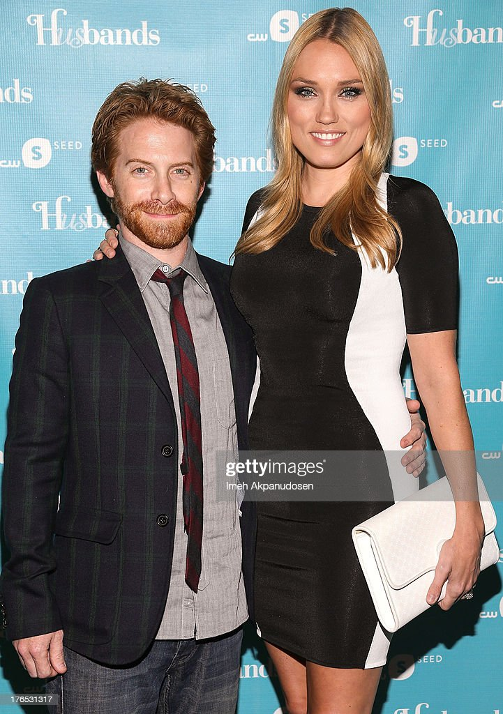 Actor Seth Green (L) and actress Clare Grant attend the premiere of CW Seed's 'Husbands' at The Paley Center for Media on August 14, 2013 in Beverly Hills, California.