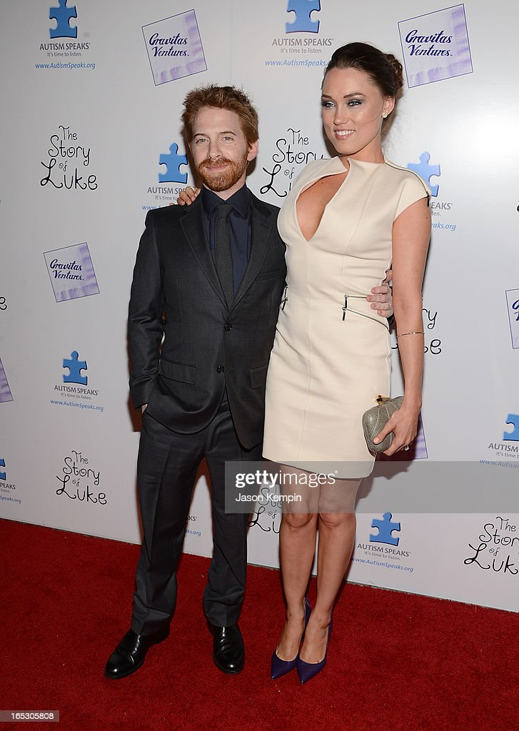 Actor <a gi-track='captionPersonalityLinkClicked' href=/galleries/search?phrase=Seth+Green&family=editorial&specificpeople=206390 ng-click='$event.stopPropagation()'>Seth Green</a> and actress <a gi-track='captionPersonalityLinkClicked' href=/galleries/search?phrase=Clare+Grant&family=editorial&specificpeople=4122159 ng-click='$event.stopPropagation()'>Clare Grant</a> attend 'The Story Of Luke' premiere at Laemmle Music Hall on April 2, 2013 in Beverly Hills, California.