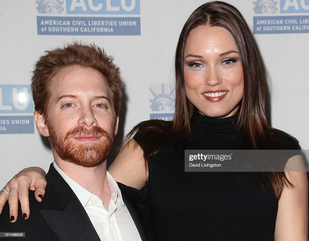 Actor Seth Green (L) and wife actress Clare Grant attend the ACLU of Southern California's 2012 Bill of Rights Dinner at the Beverly Wilshire Four Seasons Hotel on December 3, 2012 in Beverly Hills, California.