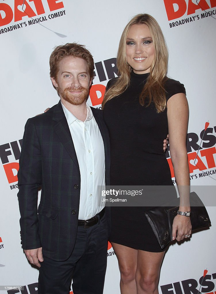 Actor <a gi-track='captionPersonalityLinkClicked' href=/galleries/search?phrase=Seth+Green&family=editorial&specificpeople=206390 ng-click='$event.stopPropagation()'>Seth Green</a> and wife <a gi-track='captionPersonalityLinkClicked' href=/galleries/search?phrase=Clare+Grant&family=editorial&specificpeople=4122159 ng-click='$event.stopPropagation()'>Clare Grant</a> attend 'First Date' Broadway Opening Night at Longacre Theatre on August 8, 2013 in New York City.