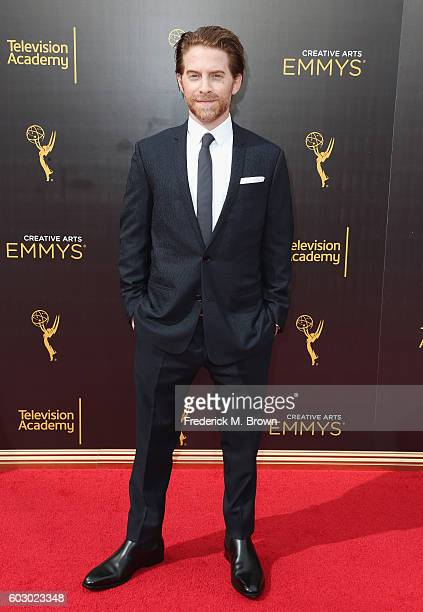 Actor Seth Green attends the 2016 Creative Arts Emmy Awards at Microsoft Theater on September 11 2016 in Los Angeles California