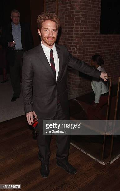 Actor Seth Green attends the City Of Peace Films With The Cinema Society Premiere Of 'The Identical' after party at White Street Restaurant on...
