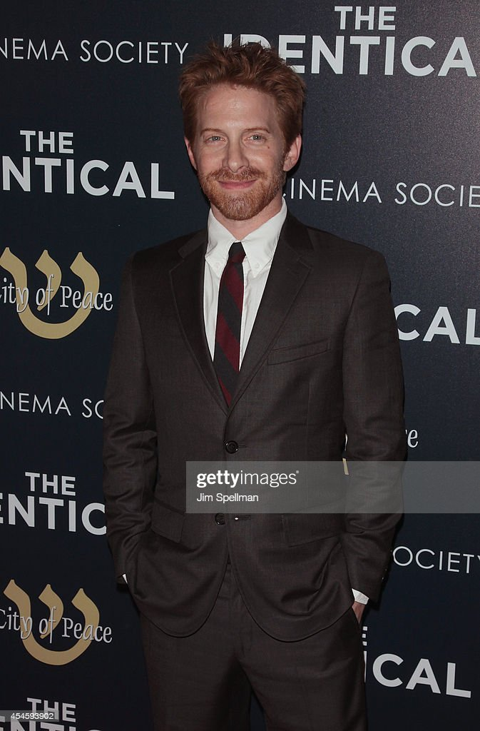 Actor Seth Green attends the City Of Peace Films With The Cinema Society Premiere Of 'The Identical' at SVA Theater on September 3 2014 in New York...