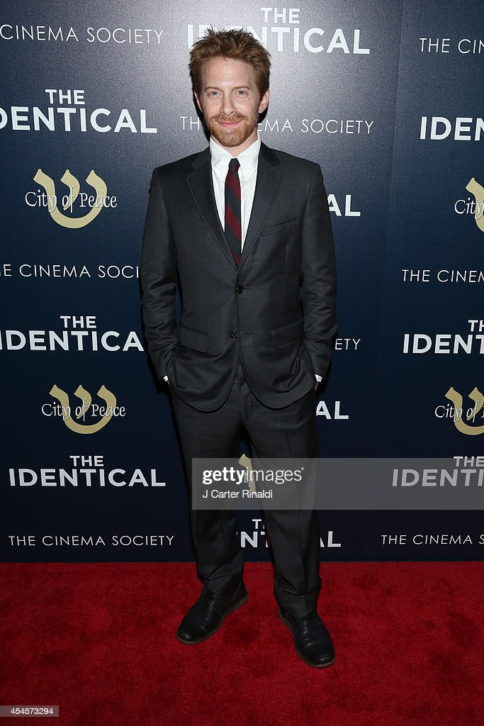 Actor Seth Green attends the City Of Peace Films with The Cinema Society host the premiere of 'The Identical' at SVA Theater on September 3 2014 in...