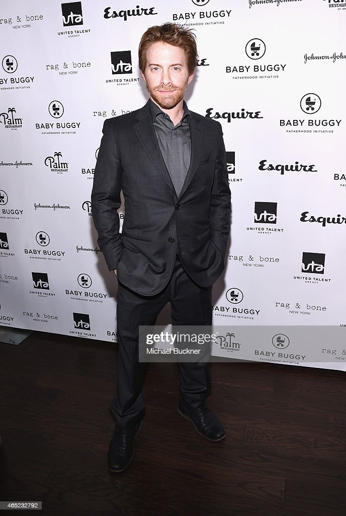 Actor Seth Green attends the Inaugural Los Angeles Fatherhood Lunch to Benefit Baby Buggy hosted by Jerry Seinfeld at The Palm Restaurant on March 4...