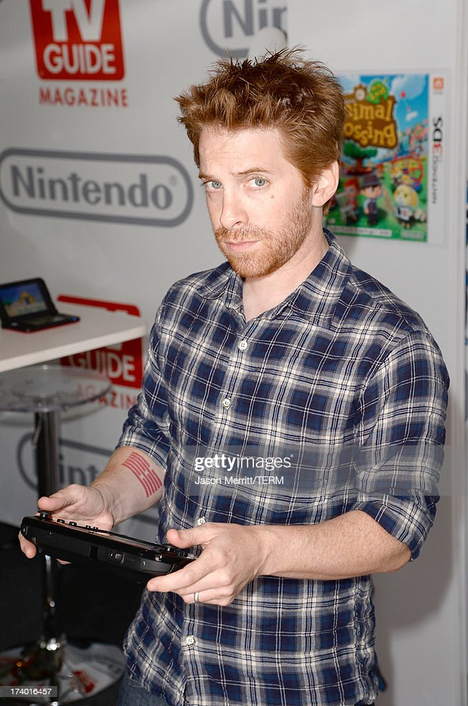 Actor <a gi-track='captionPersonalityLinkClicked' href=/galleries/search?phrase=Seth+Green&family=editorial&specificpeople=206390 ng-click='$event.stopPropagation()'>Seth Green</a> attends the Nintendo Oasis on the TV Guide Magazine Yacht at Comic-Con day 1 on July 18, 2013 in San Diego, California.