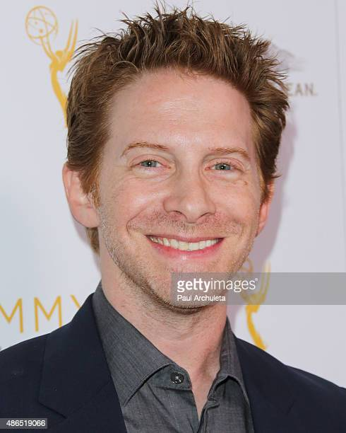 Actor Seth Green attends the Television Academy's cocktail reception to celebrate the 67th Emmy Awards at The Montage Beverly Hills on August 24 2015...