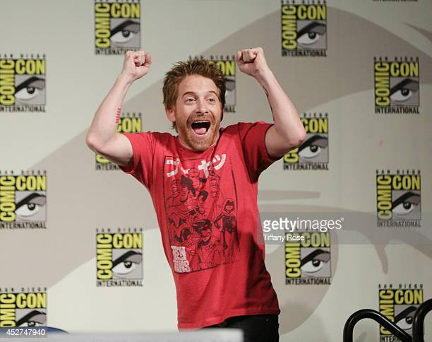 Actor Seth Green speaks at the Teenage Mutant Ninja Turtles Panel at the 2014 San Diego ComicCon International Day 4 on July 26 2014 in San Diego...
