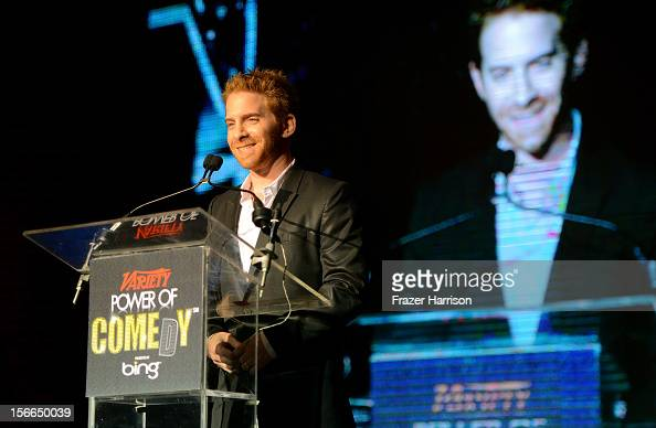 Actor Seth Green speaks onstage at Variety's 3rd annual Power of Comedy event presented by Bing benefiting the Noreen Fraser Foundation held at...