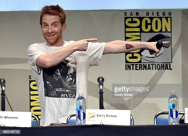 Actor Seth Green speaks onstage during 'Con Man' The Fan Revolt 13 Years In The Making panel during ComicCon International 2015 at the San Diego...