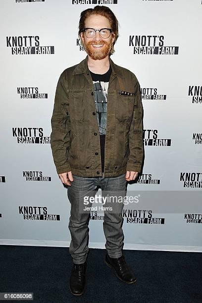 Actor Seth Green visits Knott's Scary Farm at Knott's Berry Farm on October 20 2016 in Buena Park California
