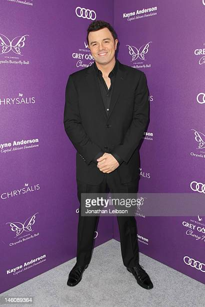 Actor Seth MacFarlane arrives at the 11th Annual Chrysalis Butterfly Ball held at a private residence on June 9 2012 in Los Angeles California