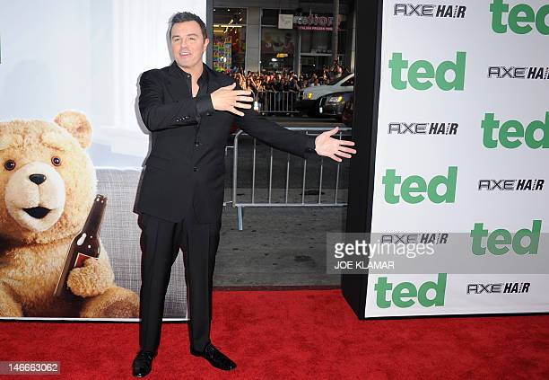 Actor Seth MacFarlane arrives for the movie premiere TED presented by Universal Pictures and MRC at Grauman's Chinese theatre on June 21 2012 in...