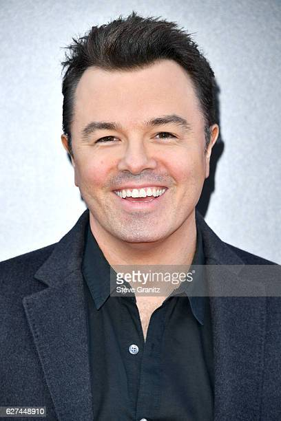 Actor Seth MacFarlane attends the premiere Of Universal Pictures' 'Sing' on December 3 2016 in Los Angeles California