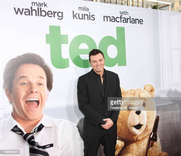 Actor Seth MacFarlane attends the Premiere Of Universal Pictures' 'Ted' at Grauman's Chinese Theatre on June 21 2012 in Hollywood California