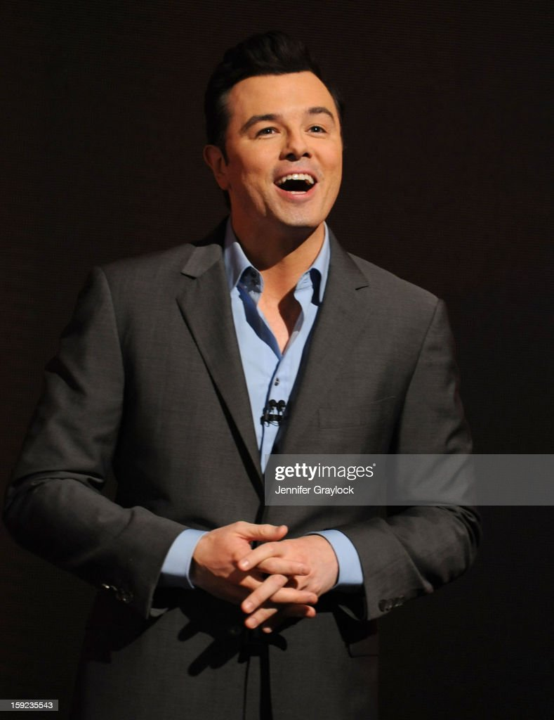 Actor Seth MacFarlane on stage during the 85th Academy Awards Nominations Announcement held at AMPAS Samuel Goldwyn Theater on January 10, 2013 in Beverly Hills, California.
