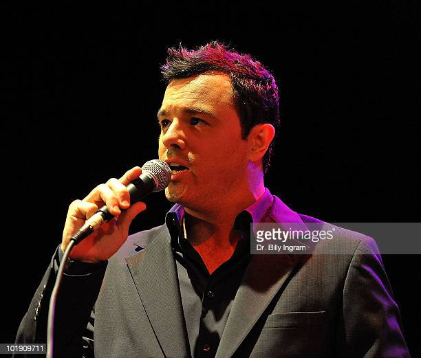 Actor Seth MacFarlane performs the 2nd Annual LAPD Memorial Foundation Benefit Concert at Avalon on June 8 2010 in Hollywood California