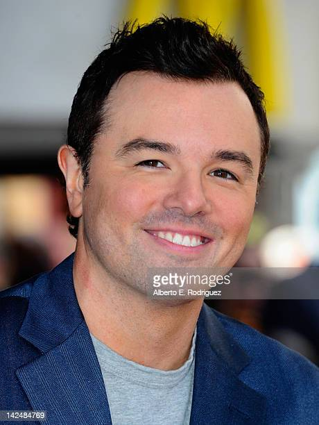 Actor Seth McFarlane attends a ceremony honoring Adam West with the 2468th Star on the Hollywood Walk of Fame on April 5 2012 in Hollywood California