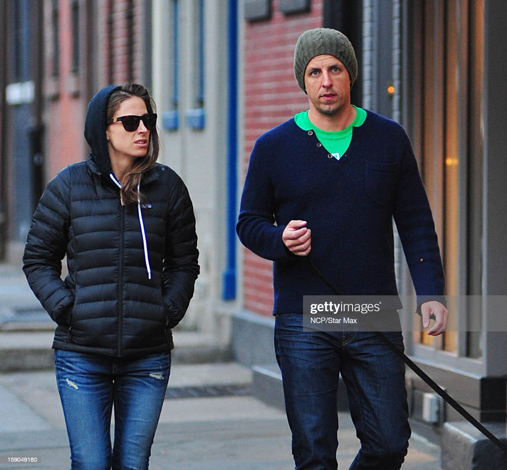 Actor <a gi-track='captionPersonalityLinkClicked' href=/galleries/search?phrase=Seth+Meyers&family=editorial&specificpeople=618859 ng-click='$event.stopPropagation()'>Seth Meyers</a> and Alexi Ashe as seen on January 6, 2013 in New York City.