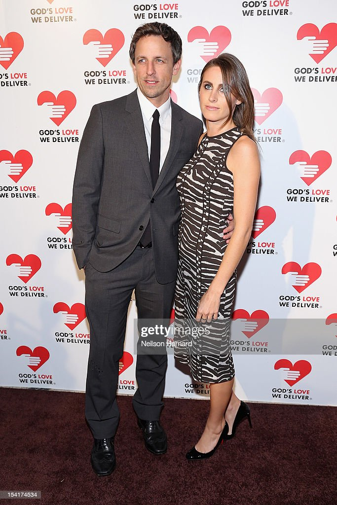 Actor <a gi-track='captionPersonalityLinkClicked' href=/galleries/search?phrase=Seth+Meyers&family=editorial&specificpeople=618859 ng-click='$event.stopPropagation()'>Seth Meyers</a> and Alexi Ashe attend the Michael Kors- Golden Heart Gala at Cunard Building on October 15, 2012 in New York City.