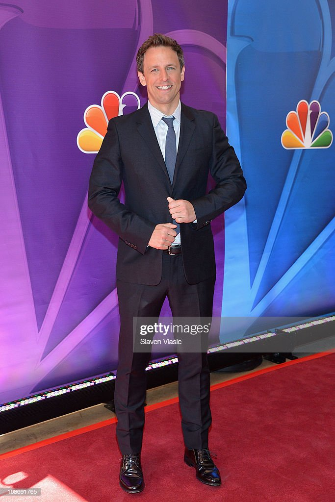 Actor <a gi-track='captionPersonalityLinkClicked' href=/galleries/search?phrase=Seth+Meyers&family=editorial&specificpeople=618859 ng-click='$event.stopPropagation()'>Seth Meyers</a> attends 2013 NBC Upfront Presentation Red Carpet Event at Radio City Music Hall on May 13, 2013 in New York City.