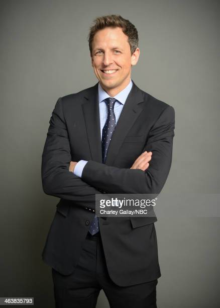 Actor Seth Meyers attends the 2014 NBCUniversal TCA Winter Press Tour Portraits at Langham Hotel on January 19 2014 in Pasadena California