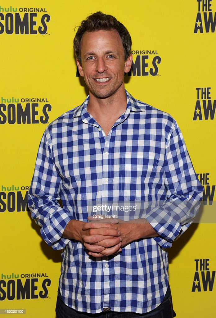Actor Seth Meyers attends 'The Awesomes' Season 3 Premiere Party & Screening at Microsoft Lounge on September 2, 2015 in New York City.
