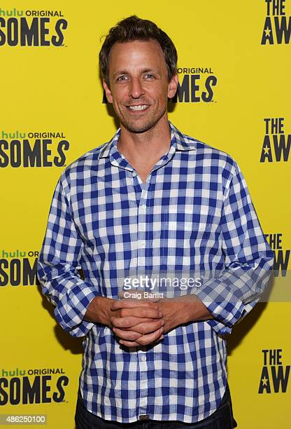 Actor Seth Meyers attends 'The Awesomes' Season 3 Premiere Party Screening at Microsoft Lounge on September 2 2015 in New York City
