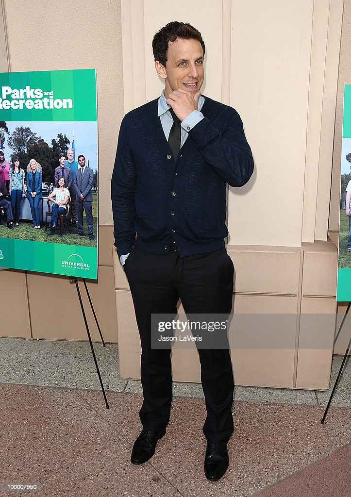 Actor Seth Meyers attends the 'Parks And Recreation' Emmy screening at Leonard H. Goldenson Theatre on May 19, 2010 in North Hollywood, California.
