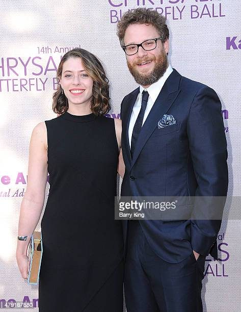 Actor Seth Rogen and actress Lauren Miller attend the 14th annual Chrysalis Butterfly Ball sponsored by Audi Kayne Anderson Lauren B Beauty and Z...