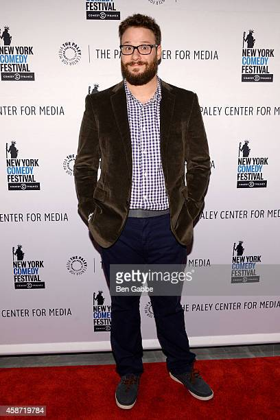 Actor Seth Rogen attends 'Id Isn't Always Pretty An Evening With Broad City' Panel Discussion at The Paley Center for Media on November 9 2014 in New...