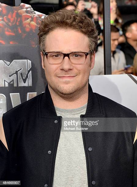 Actor Seth Rogen attends the 2014 MTV Movie Awards at Nokia Theatre LA Live on April 13 2014 in Los Angeles California