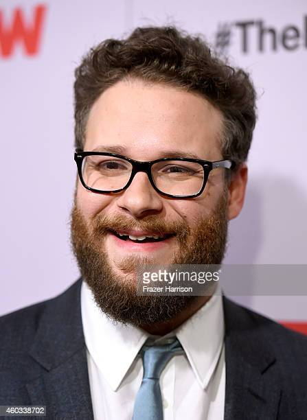 Actor Seth Rogen attends the premiere Of Columbia Pictures' 'The Interview' at The Theatre at Ace Hotel Downtown LA on December 11 2014 in Los...
