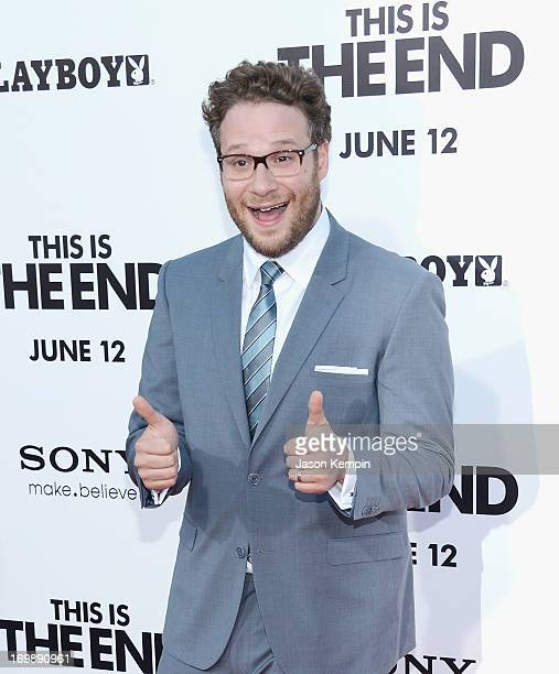 Actor Seth Rogen attends the premiere of Columbia Pictures' 'This Is The End' at the Regency Village Theatre on June 3 2013 in Westwood California