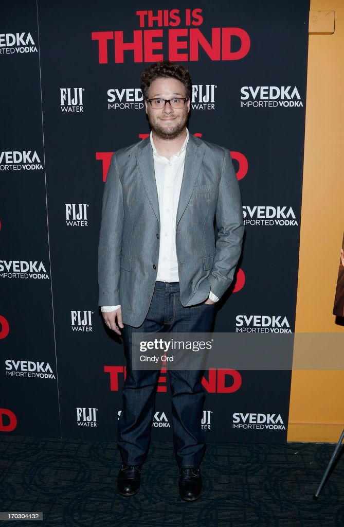 Actor <a gi-track='captionPersonalityLinkClicked' href=/galleries/search?phrase=Seth+Rogen&family=editorial&specificpeople=3733304 ng-click='$event.stopPropagation()'>Seth Rogen</a> attends 'This Is The End' New York Premiere at Sunshine Landmark on June 10, 2013 in New York City.