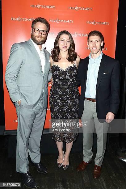 Actor Seth Rogen Lauren Rogen and Dan Miller attends Seth and Lauren Rogen's Hilarity for Charity Comes to New York at Highline Ballroom on June 29...